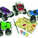 Monster Truck Kit Bundle Custom Kids Creativity Paint Brush Family Fun Age 5+