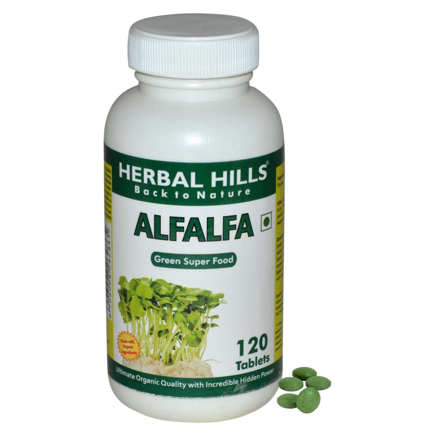 Organic Alfalfa medicago sativa 120 tablets