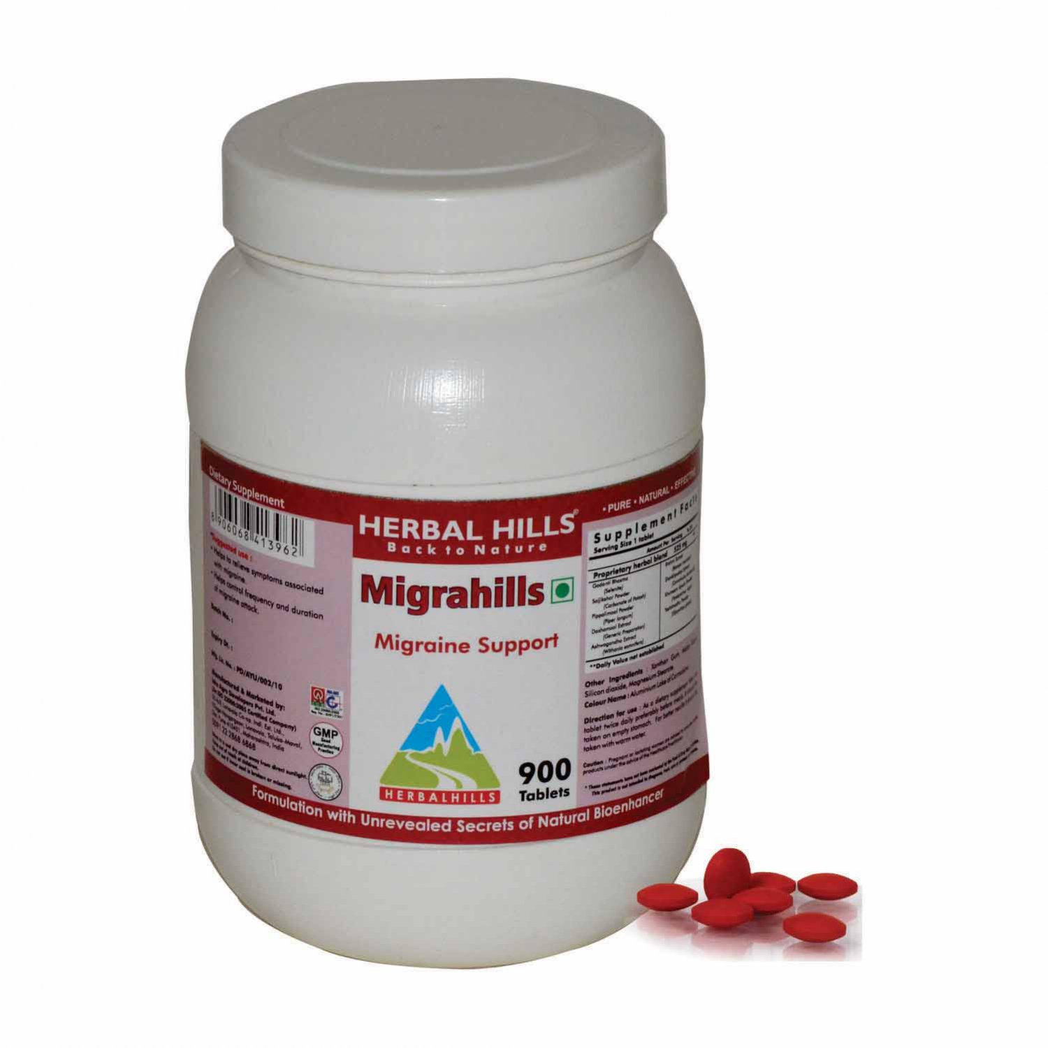 Migrahills 900 Tablets - Migraine Support