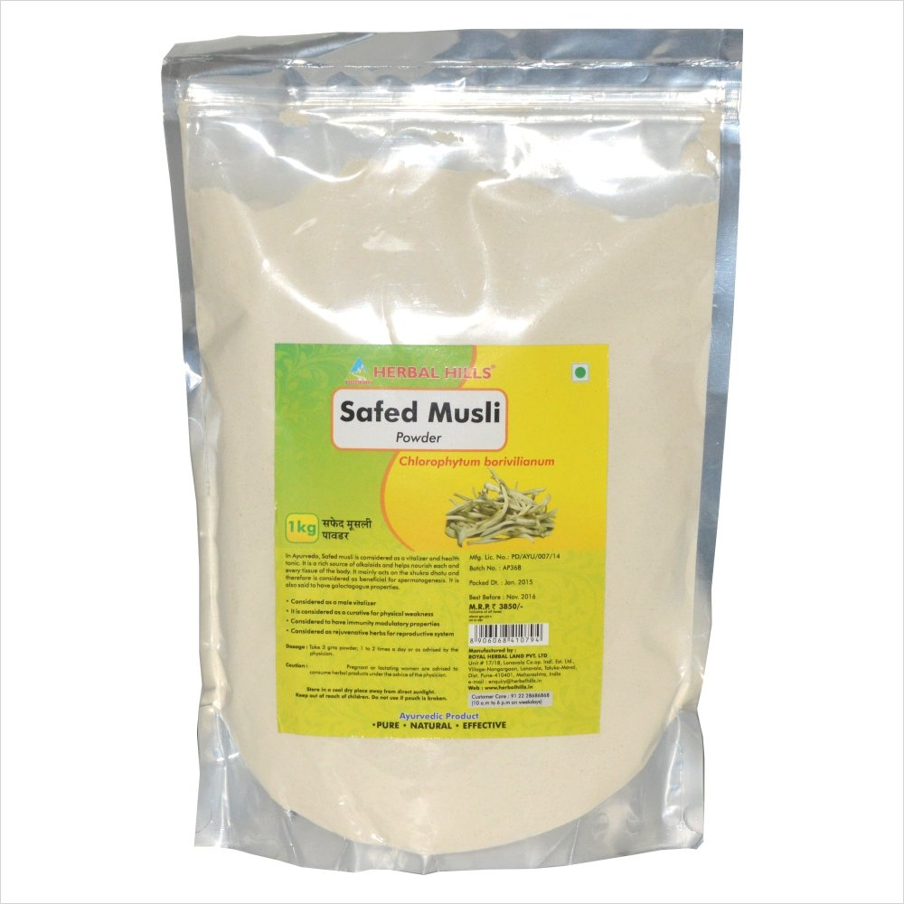 Safed Musli Chlorophytum borivilianum powder - 1 kg