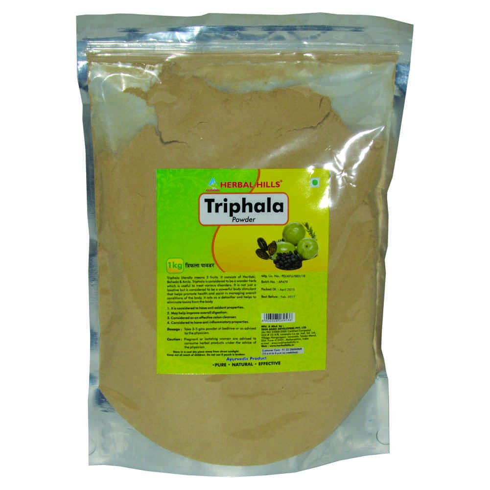 Triphala Powder MIX OF TERMINALIA CHEBULA, TERMINALIA BELLERICA & EMBLICA OFFICINALIS - 1 kg