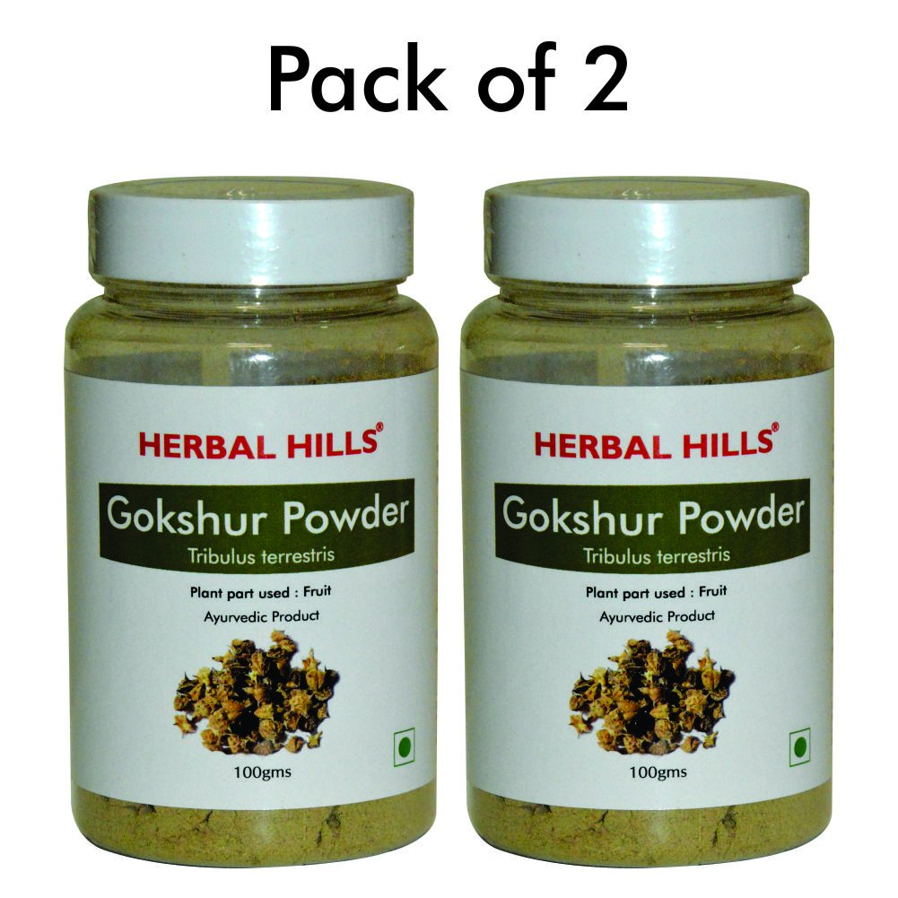 Gokhshur Powder Tribulus terrestris - Pack of 2 - 100 gms each