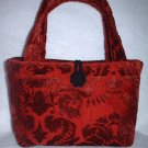 Dark Red Velvet Party Handbag