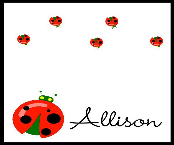 Red Ladybugs Checkbook Cover