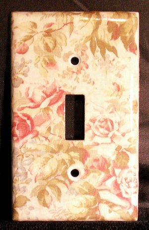 Flowers Light Switch Plate Cover