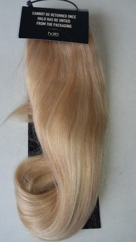 "16"" Bleach Blonde Swedish Blonde Mix Halo 100% Indian Remy Human Hair"