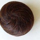 Drawstring Hair , Swirl style hair bun in brown