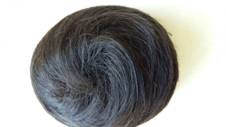 Synthetic Black Drawstring Hair piece Swirl style hair bun