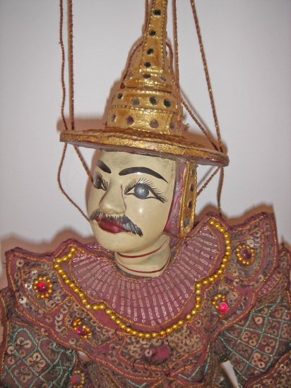 BURMESE BURMA MYANMAR ASIA TRADITIONAL MARIONETTE PUPPET WOODEN