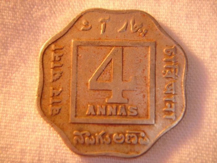 1920 Indian 4 Annas King George V