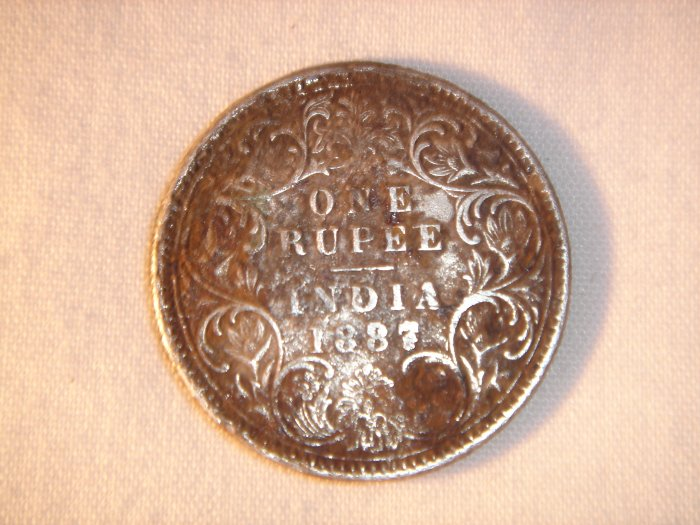 1887 Indian Rupee Queen Victoria