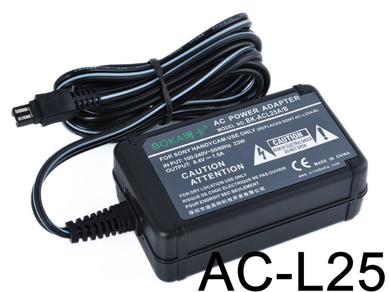 AC/DC Battery Power Charger Adapter for Sony Handycam HDR-CX420 v/e AC-L20 A