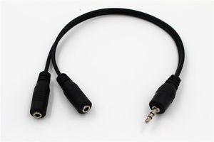3.5MM Stereo Male to Dual 3.5mm Stereo Female Splitter Adapter