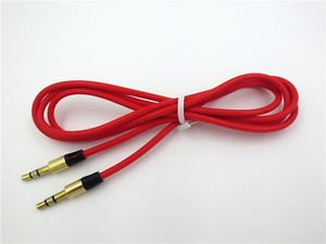 "Red 3.5mm 1/8""Audio Cable AUX-In Cord For Beats Pill 2.0 B0513 Bluetooth Speaker"