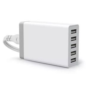 5 Port 25W USB Wall Charger Adapter For iPhone 6 Plus Samsung Galaxy S5 S4 S3