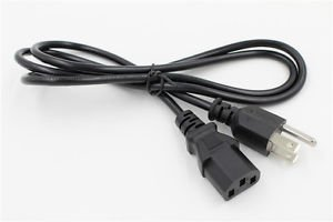 3 Prong AC Cable Power Cord For Optoma HD26 HD28DSE HD142X Projector
