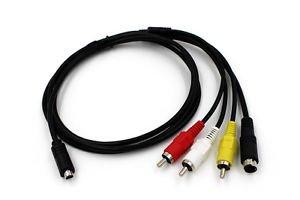 AV A/V TV Video Audio Cable Cord Lead For SONY DCR-HC23/e DCR-HC24/e DCR-HC26/e