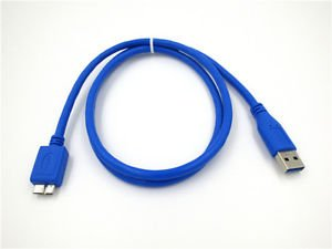 USB 3.0 PC Data SYNC Cable Cord For WD 4TB Hard Drive WDBBKD0040BBK-NESN