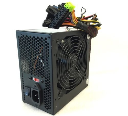650W 20+4-pin ATX Power Supply w/SATA, PCIe & Large 120mm Cooling Fan Quiet  EJ