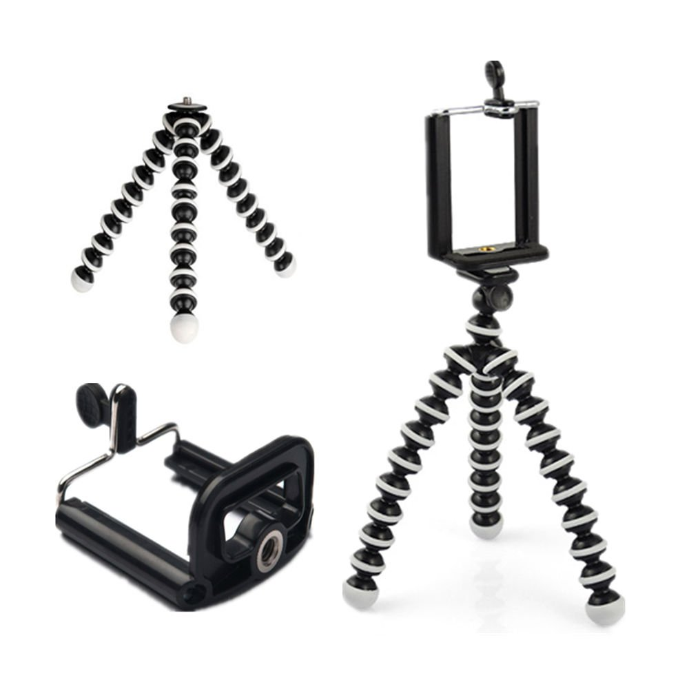 Generic Octopus Flexible Tripod Stand for GoPro Camera iPhone 6 6S Samsung Phone  EJ1
