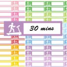 Fitness Treadmill Running Gym tracker Printable Decorative Calendar Planner Stickers Labels
