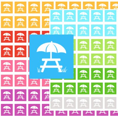 Picnic Icon Printable PDF Decorative Planner Stickers