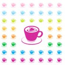 Cappuccino Icon Printable PDF Decorative Planner Stickers