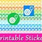 Tire Pump Icon Printable PDF Decorative Planner Stickers