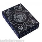 "6""x4""x2"" Black Marble Jewelry Box Trinket Ring Box Hand Carved Home Decor Gifts"