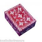 "6""x4""x2"" Red Marble Jewelry Box Trinket Ring Box Handmade Home Decor Gifts"