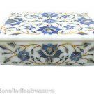 "6""x4""x2"" Marble Decorative Lapis Lazuli Handmade Jewelry Box Trinket Pietra Dura"