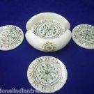 Marble Coaster Set Kitchen Accessories Paua Shell Pietra Dura Home Decor Gifts