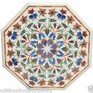 "30"" Marble Coffee Table Top Pietra Dura Lapis Lazuli Semi Precious Handmade Deco"