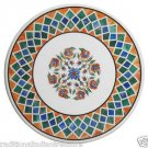"30"" Marble Coffee Center Table Top Pietradure Lapis Hakik Gemstone Home Décor"