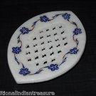 Marble Soap Dish Holder Bathroom Pietra Dura Decor Lapis Filigree Home Decor Art