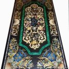3'x6' Antique Capitol Black Marble Dining Conference Table Top Pietra Dura Arts