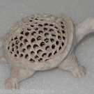 "4""x3""x2"" Marble Turtle Handmade Tiny Carved Hole Figurine Animal Sculpture Gifts"