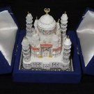 "3"" Marble Taj Mahal Collectible Replica Ttraditional Marble Indian Ethical Decor"