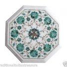 "Size 12""x12"" Marble End Coffee Table Top Rare Malachite Mosaic Home Decor H002"