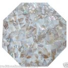 """18"""" White Marble Coffee Table Top Mother Of Pearl Italian Home  Decor"""