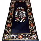 Size 2'x4' Marble Dining Table Top Semi Inlay Gemstone Mosaic Art Home Deco H955