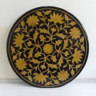 """36"""" Black Marble Coffee Table Top Mosaic Pietradure Home Decor Inlaid Gifts"""