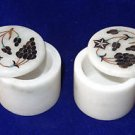 "2""x2"" Marble Bunch Of Grapes Design Handmade Jewelry Trinket Box Home Decor Art"