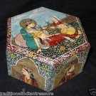 Mughal Hand Painting Marble Jewelry Box Handmade For Kitchen Home Decor Gifts