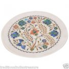 """9"""" Decorative Marble Plate Pietra Dura Marquerty Beautiful Home Decor Best Gifts"""