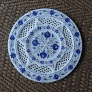 "12"" Rare Lapis Lazuli Marble Plate Pietra Dura Grill Work Handmade home Decor"