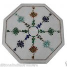 """12"""" Marble Dining Coffee Table Top Flower Marquetry Pietra Dura Home Decor Arts"""