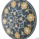 "Size 30""X30"" Marble Dining Table Top Hakik Mosaic Floral Work Home Decor H944A"