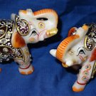 """3"""" Marble Turning Set of two Painted Elephant Handmade Safari Home Decor Gifts"""