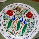 "15"" Marble Plate Handmade Paua Shell Floral Pietra Dura Peacock Gifts Arts"